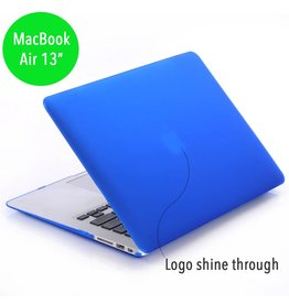 Lunso Lunso - hardcase hoes - MacBook Air 13 inch - mat blauw