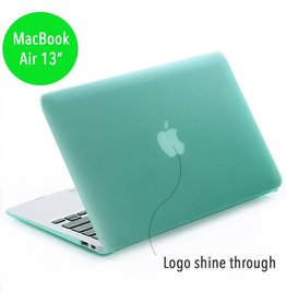 Lunso Lunso - hardcase hoes - MacBook Air 13 inch - mat groen