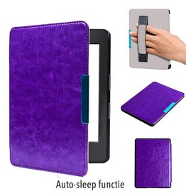 Lunso Lunso - sleepcover hoes handgreep - Kindle Paperwhite 1 / 2 / 3 - paars