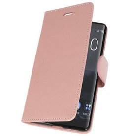 Bookwallet hoes - Nokia 8 Sirocco - roze/goud
