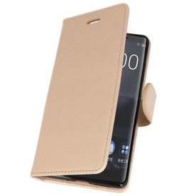 Bookwallet hoes - Nokia 8 Sirocco - goud
