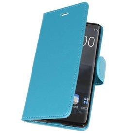 Bookwallet hoes - Nokia 8 Sirocco - lichtblauw
