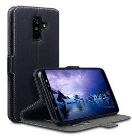 Qubits Qubits - slim wallet hoes - Samsung Galaxy A6 Plus 2018 - zwart