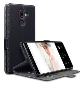 Qubits Qubits - slim wallet hoes - Nokia 7 Plus - zwart