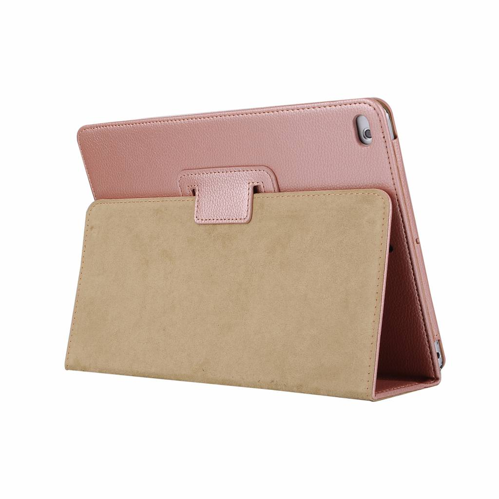 Stand flip sleepcover hoes - iPad 9.7 (2017/2018) / Pro 9.7 / Air / Air 2 - roze/goud