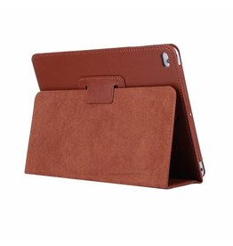 Lunso Stand flip sleepcover hoes - iPad 9.7 (2017/2018) / Pro 9.7 / Air / Air 2 - bruin