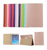 Lunso Stand flip sleepcover hoes bruin voor de iPad 9.7 (2017/2018), iPad Pro 9.7, iPad Air en iPad Air 2