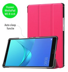 3-Vouw sleepcover hoes - Huawei MediaPad M5 8 - roze