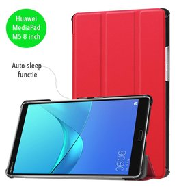 3-Vouw sleepcover hoes - Huawei MediaPad M5 8.4 inch - rood