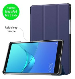 3-Vouw sleepcover hoes - Huawei MediaPad M5 8.4 inch - blauw