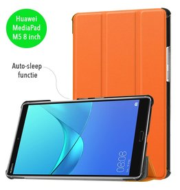 3-Vouw sleepcover hoes - Huawei MediaPad M5 8 - oranje