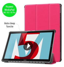 3-Vouw sleepcover hoes - Huawei MediaPad M5 10.8 inch / 10.8 inch Pro - roze