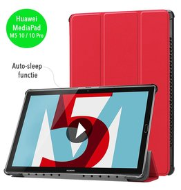 3-Vouw sleepcover hoes - Huawei MediaPad M5 10.8 inch / 10.8 inch Pro - rood
