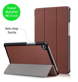 3-Vouw sleepcover hoes - Huawei MediaPad M5 8.4 inch - bruin