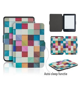 Lunso Lunso - sleepcover flip hoes - Kobo Clara HD - blokken