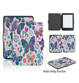 Lunso Lunso - sleepcover flip hoes - Kobo Clara HD - vlinders
