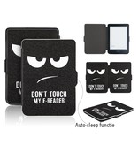 Lunso Lunso Don't Touch sleepcover flip hoes voor de Kobo Clara HD