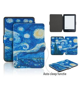 Lunso Lunso - sleepcover flip hoes - Kobo Clara HD - Van Gogh schilderij