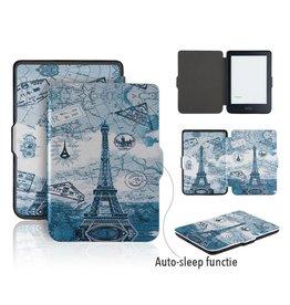 Lunso Lunso - sleepcover flip hoes - Kobo Clara HD - Eiffeltoren