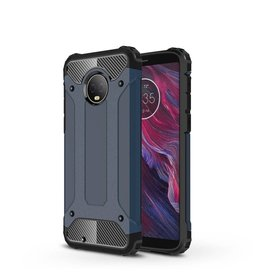 Lunso Lunso - Armor Guard hoes - Motorola Moto G6 - donkerblauw