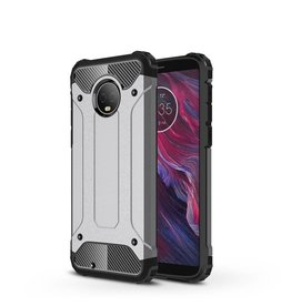 Lunso Lunso - Armor Guard hoes - Motorola Moto G6 Plus - zilver