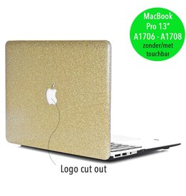 Lunso Lunso - cover hoes - MacBook Pro 13 inch (2016-2018) - glitter goud