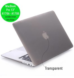Lunso Lunso - cover hoes - MacBook Pro 13 inch (2016-2019) - mat grijs