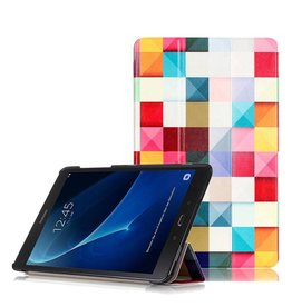 3-Vouw sleepcover flip hoes - Samsung Galaxy Tab A 10.1 inch (2016) - blokken