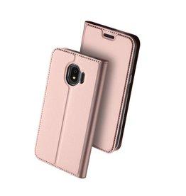 Dux Ducis pro serie - slim wallet hoes - Samsung Galaxy J4 2018 - roze/goud