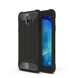 Lunso Lunso - Armor Guard hoes - Samsung Galaxy J4 2018 - zwart