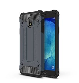 Lunso Lunso - Armor Guard hoes - Samsung Galaxy J4 2018 - donkerblauw