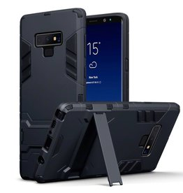 Qubits Qubits - Double Armor Layer hoes met stand - Samsung Galaxy Note 9 - zwart