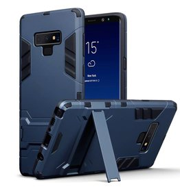 Qubits Qubits - Double Armor Layer hoes met stand - Samsung Galaxy Note 9 - Blauw