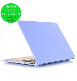 Lunso Lunso - cover hoes - MacBook Pro 13 inch (2016-2019) - Candy lichtblauw