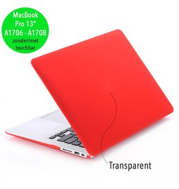 Lunso Lunso - cover hoes - MacBook Pro 13 inch (2016-2018) - mat rood