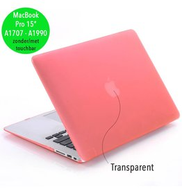 Lunso Lunso - cover hoes - MacBook Pro 15 inch (2016-2019) - mat roze