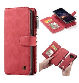 Caseme Caseme - luxe portemonnee hoes - Samsung Galaxy Note 9 - Rood