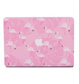 Lunso Lunso - cover hoes - MacBook Air 13 inch (2012-2017) - Flamingo roze