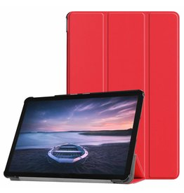 3-Vouw sleepcover hoes - Samsung Galaxy Tab S4 10.5 inch - rood