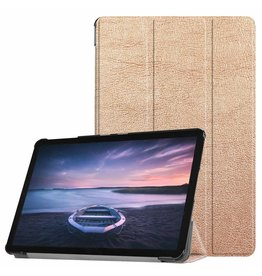 3-Vouw sleepcover hoes - Samsung Galaxy Tab S4 10.5 inch - goud