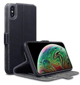 Qubits Qubits slim wallet hoes iPhone XS Max zwart