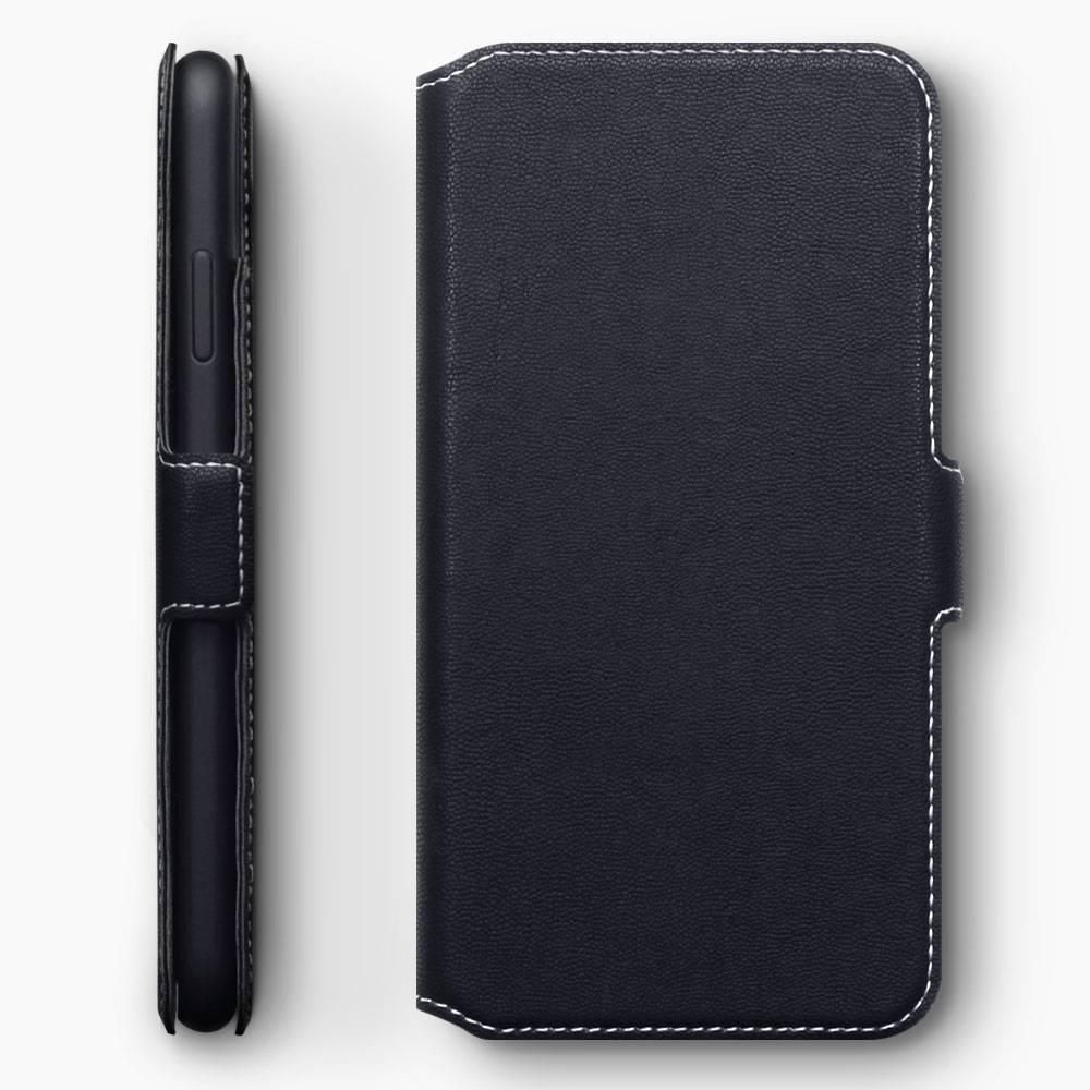Qubits Qubits slim wallet zwart hoes voor de iPhone XS Max