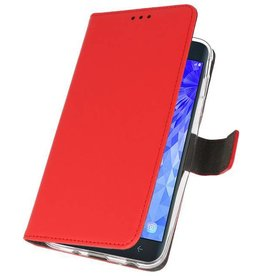 Bookwallet hoes - Samsung Galaxy J7 2018 - Rood