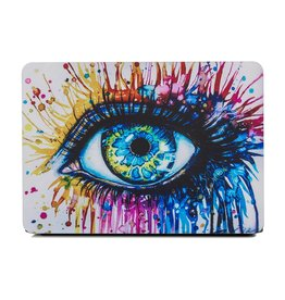 Lunso Lunso - cover hoes - MacBook Pro 13 inch (2012-2015) - Kleurrijk oog