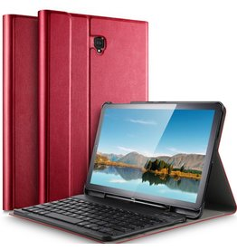 Lunso Afneembare Keyboard hoes - Samsung Galaxy Tab S4 10.5 inch - rood