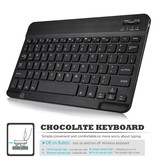 Lunso Afneembare Keyboard hoes roze / goud voor de Samsung Galaxy Tab S4 10.5 inch