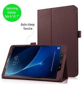 Stand flip sleepcover hoes - Samsung Galaxy Tab A 10.1 inch (2016) - bruin