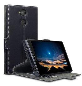 Qubits Qubits - slim wallet hoes - Sony Xperia L2 - zwart