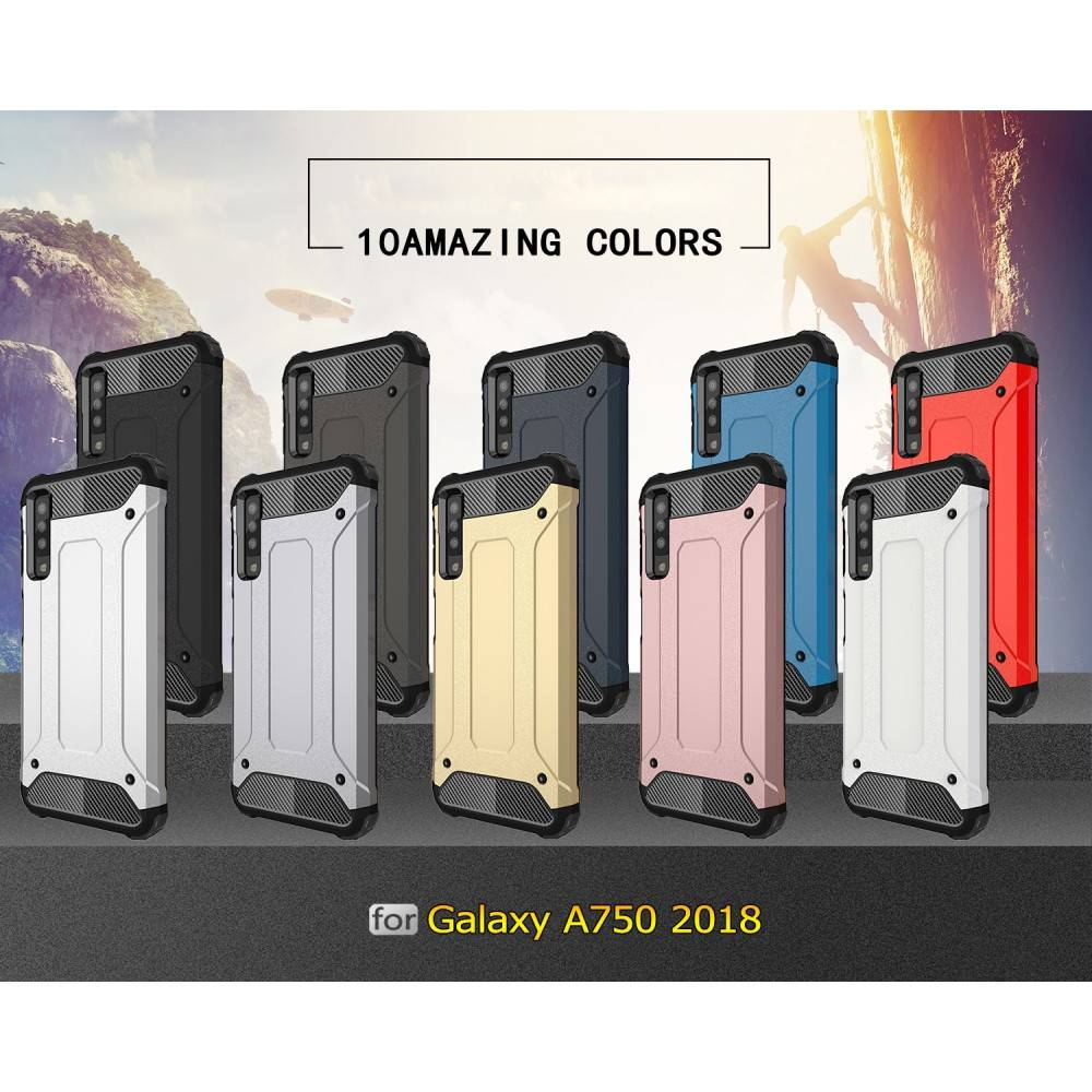 Lunso Lunso Armor Guard hoes blauw voor de Samsung Galaxy A7 2018