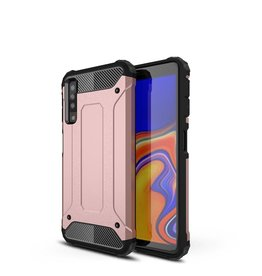 Lunso Lunso - Armor Guard hoes - Samsung Galaxy A7 2018 - roze / goud